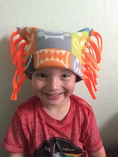 Kid's Fleece Winter Hat, Fleece Monster Print Hat, Fleece Hat for Kids, Unisex Fleece Hat by KozyKiddies on Etsy
