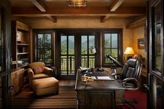 Rocky Mountain Log Homes -Timber Frames rustic-home-office