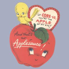 Vintage Valentine Museum: Edible Love - Anthopomorphized Fruits and Veggies