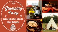 Glamping Party- Party Planning Ideas and Tips #fall #glamping #party #tips