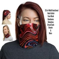 12 in 1 Multi-functional Neck Gaiter / Face Mask – protects against the sun providing a cooling effect on hot days too! Came and check! Our Etsy Shop has over 400 Gaiters to choose! Etsy HelsinkiFashionVibes Fashion Neck Gaiters #adultsgaiter #balaclava #festivalgaiter #stylishgaiters #womenfacemask #womengaiter #mengaiterneck #neckgators #neckbuff #sunprotection #summerfacemask #festivalfacemask #scarf #beanie #ravefacemask #face #phsychedelicfacemask #bandana #headband #facemask… Black Neck, Half Face Mask, Red Bandana, Bohemian Design, Death Metal, Fashion Face Mask, Head Wraps, Hair Band, 13 Days