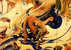 Image result for Brett Whiteley Australian Painting, Australian Artists, 20th Century Painters, Gold Skies, Avant Garde Artists, Artwork Images, Mural Painting, Pet Birds, Art Inspo