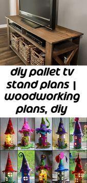 Diy pallet tv stand planes | planos de carpintería muebles de bricolaje planos de bricolaje muebles de salón