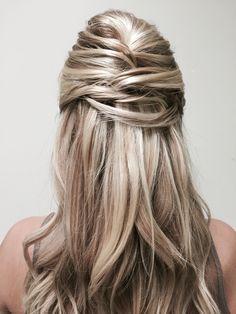 Blond hairstyle light hair wedding ❤️