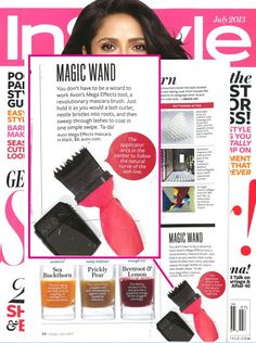 We spotted #MegaEffects Mascara in the July issue of InStyle Magazine.