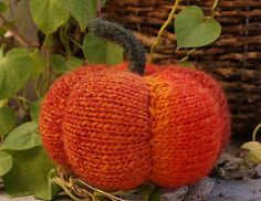 Whip up this little pumpkin in to time at all. It's also a good project to work on your short row shaping.