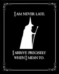 This is my philosophy about going to work on time.