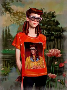 Gucci Gift Giving campaign by Spanish artist Ignasi Monreal - Marie claire, Illustrator en Gucci Artsy, Art Inspiration, Fashion Painting, Drawings, Art, Artwork, Illustration, Artist, Fashion Illustration