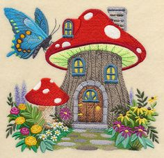 Machine Embroidery Designs at Embroidery Library! - New This Week Embroidered Quilts, Crewel Embroidery, Embroidery Needles, Free Machine Embroidery Designs, Hand Embroidery Patterns, Quilting Projects, Sewing Projects, Quilt Blocks, Cotton Fabric