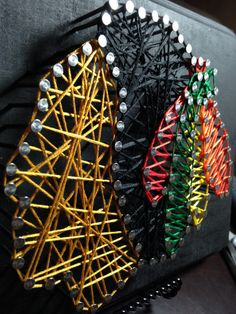 Chicago Blackhawks Nail and String Art by ForTheLoveOfDetail