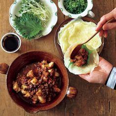メキシコ料理のチリコンカンを、小豆のマリネでアレンジしたら、やさしい味に仕上がりました。
