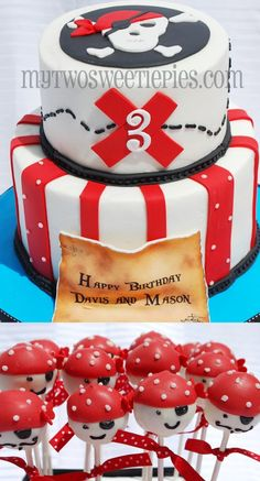 Happy Birthday to two very sweet boys, Mason and Davis! Pirate theme cake with nothing other than Pirate cake pops! Pirate Birthday Cake, Star Wars Birthday, Birthday Cakes, Pirate Cake Pops, Pirate Cakes, Anniversaire Star Wars, 6th Birthday Parties, 4th Birthday, Birthday Ideas