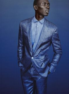 'Blue Note' - Model: Armando Cabral  - Photographer: Billy Kidd - Fashion Editor/Stylist: Benjamin Sturgill - Details Magazine May 2014