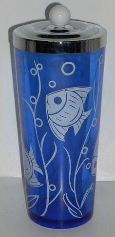 Hazel Atlas Sportsman Cobalt Blue Depression Glass by diantiques, $45.00