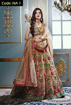 25 Trendy Lehenga designs for Navratri & Garba 2019 - Buy lehenga choli online Indian Bridal Outfits, Indian Bridal Fashion, Indian Bridal Wear, Pakistani Couture, Pakistani Dresses, Indian Dresses, Indian Sarees, Pakistani Bridal, Designer Bridal Lehenga