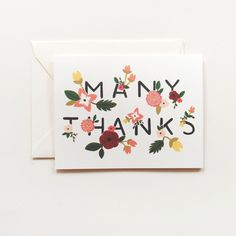 Ava Thank You Card 8 Pack by Rifle Paper Co.