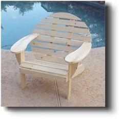 21-5801 - Adirondack Round Back Chair Woodworking Plan