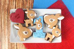 Deer One Valentines Decorated Cookie (Tutorial)