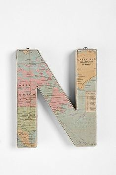 Maps into letters.