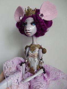 OOAK  Art Doll  Séverine Mouse par AlexandraSoury sur Etsy