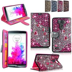 Amazon.com: LG Optimus G3 Case - Cellularvilla Pu Leather Wallet Diamond Design Sparkle Glitter Card Flip Open Pocket Case Cover Pouch For LG G3 D850 D851 AT&T (Pink Silver): Cell Phones & Accessories
