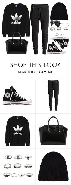 """Style #11679"" by vany-alvarado ❤ liked on Polyvore featuring Converse, adidas Originals, Givenchy, Yves Saint Laurent and Ray-Ban"