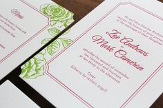 Made-to-Measure Invitations by The Hunter Press. #letterpress #weddinginvites #invitations #wedding #bright #floral
