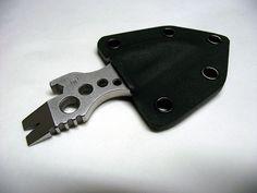 TT-Pocket-Edge Pocket Tool & Knife - in its Kydex sheath