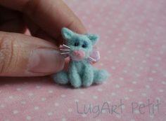 needle-felted kitty | visit etsy com