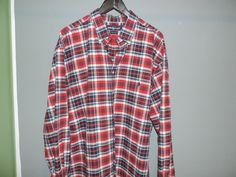Ralph Lauren Polo Designer Red Plaid Big & Tall 100% Cotton Shirt SZ 2XLT Mint  #RalphLauren #ButtonFront