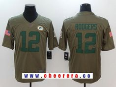 Men's Green Bay Packers #12 Aaron Rodgers Olive 2017 Salute To Service Stitched NFL Nike Limited Jersey