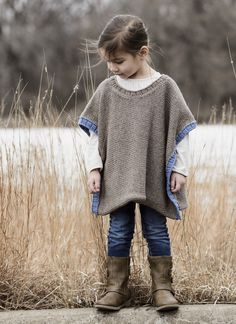 Stylish little girls will be pulling on their ponchos for outdoor adventures and picnics with Grandma. The Puddle Jumper Poncho is worked from side to side in one easy piece. Pick her two favorite shades of washable worsted-weight Sweater-one for the main color and one for the contrasting ribbed band along the side edges. Pattern …