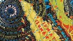 Paula Scher, handdrawn maps. Tsunami