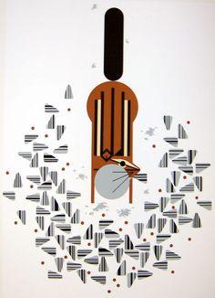 charley harper, chipmunk print