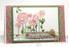 Happy Mother's Day Card Stampendous Ranunculus Field stamp
