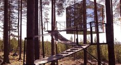 Low-fi honeymoons, treehouses. Via The Lane