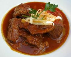 Goulash with Red Wine Sauce is a delicious food from Hungary. Learn to cook Goulash with Red Wine Sauce and enjoy traditional food recipes from Hungary. Hungarian Cuisine, Hungarian Recipes, Sauce Recipes, Beef Recipes, Cooking Recipes, Hungary Food, Goulash Recipes, Beef Dishes, Beef Stew Meat