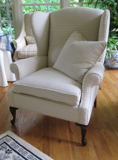 Dunwoody Classic Wing Back Chair in Taupe and by WydevenDesigns, $525.00