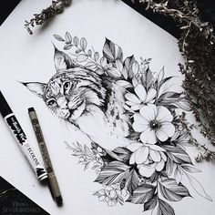 #lynx #sketch #artmagazine #artwork #artgalery #worldofartists #art_spotlight #sketch_daily #flowers #drawing #artgalaxies #whichinkilike #art_empire #art_we_inspire #blacktattooart #blackworkers #blxckink #illustration #art #art_assistance