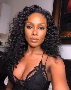 Black Girl Makeup, Girls Makeup, Beauty Skin, Hair Beauty, Curly Hair Styles, Natural Hair Styles, Natural Curls, Curly Weaves, Braut Make-up