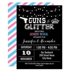 Glitter Invitations, Custom Invitations, Party Invitations, Glitter Gender Reveal, Pregnancy Announcement Cards, Baby Banners, Gender Reveal Invitations, Pack Of Diapers, Baby Gender