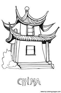 Chinese Culture is awesome! Learn Chinese language from Karen - A Chinese girl. I will master you in pronouncing chinese words with Pinyin. House Colouring Pages, Coloring Pages For Girls, Free Coloring Pages, Coloring Books, Printable Coloring, Chinese New Year Activities, Chinese Crafts, China Art, China China