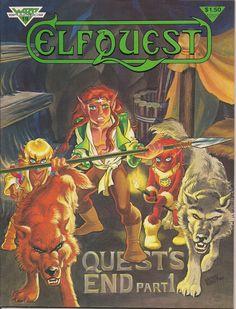 ELFQUEST #19 Wendy Pini 1983 WARP Graphics Elves Wolf Trolls Cutter Wolfriders Fantasy B & W Comic Book Magazine