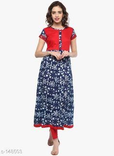Kurtis & Kurtas Trendy Cotton Kurti Fabric: Cotton  Sleeves: Sleeves Are Included Size : XS,S,M,L,XL,XXL,3XL,4XL,5XL,6XL,7XL (Refer Size Chart) Type : Stitched Description: It Has 1 Pieces of Kurti Work: Printed Sizes Available: XS, S, M, L, XL, XXL, XXXL, 4XL, 5XL, 6XL, 7XL   Catalog Rating: ★4.4 (552)  Catalog Name: Ladies Ethnic Printed Kurtis Vol 3 CatalogID_14734 C74-SC1001 Code: 376-148503-