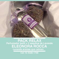 Caja presentacion, contiene un perfumador textil y dos saquitos de lavanda. Aroma que calma.
