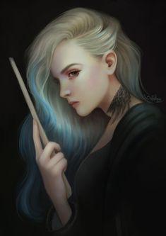 Delphini: daughter of voldemort Harry Potter Cursed Child, Harry Potter Artwork, Harry Potter Cosplay, Harry Potter Anime, Harry Potter Characters, Female Harry Potter Fanfiction, Lord Voldemort, Bellatrix, Slytherin