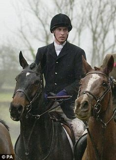 Prince  William hunting with the Beaufort Hunt