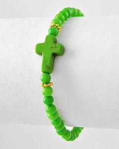 Beads of Faith Cross Bracelet - Five colors