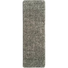 Berrnour Home Loft Collection Solid Soft Pile Shag Runner Rug with Nonslip Rubber Backing, Gray