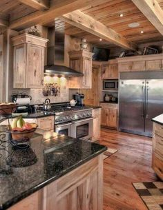 Black counters and white cabinets